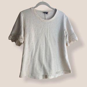 ModCloth oatmeal lightweight sweatshirt tee Small